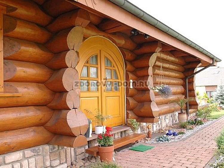 Кедр дом из оцилиндрованного бревна