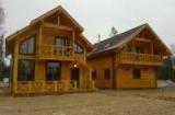 Клееный, профилированный брус - двухэтажный дом
