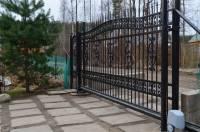 Ворота кованые откатные с автоматикой