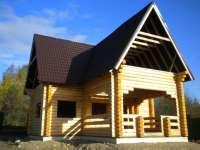 Дом из оцилиндрованного бревна Речное
