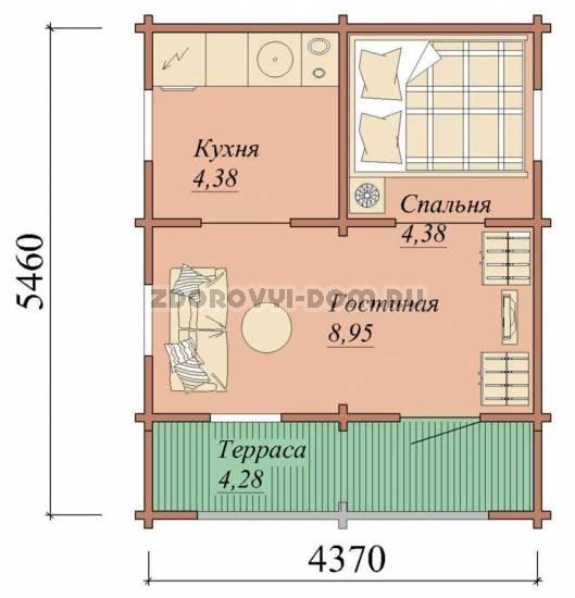 Планировка - гостевой дом
