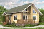 Кеми 93, деревянный дом из клееного бруса