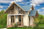 Лахти 85, каркасно-панельный дом 6.25 x 7.50 м