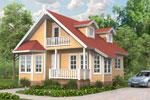 Лахти 111, каркасно-панельный дом 7.74 x 10.85 м
