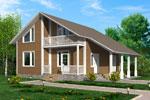Лахти 180, каркасно-панельный дом 9.50 x 10.55 м