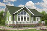 Кеми 150, загородный дом из клееного бруса