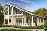Кеми 166, загородный дом из клееного бруса